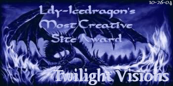Ldy-Icedragon's Most Creative Site Award