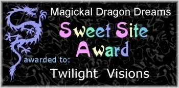 Magickal Dragon Dreams Sweet Site Award