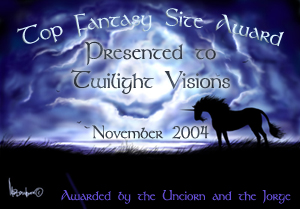 The Unicorn and the Jorge's Top Fantasy Site Award